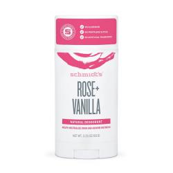 Déodorant naturel stick rose + vanille 92g - Schmidt's