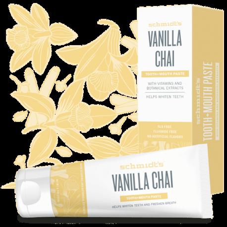 Dentifrice naturel à la vanille et avec vitamines et extraits de plantes 133g - Schmidt's