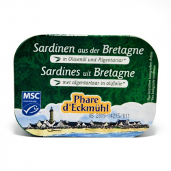 Sardines met algentartaar 135g,Sardines
