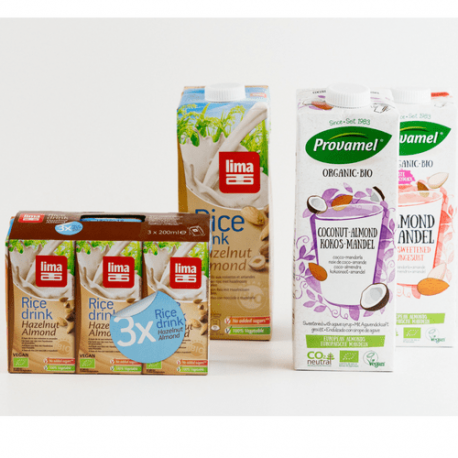 Rice milk, hazelnut and almond 1L