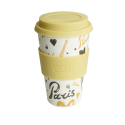 Bamboo Cup - Cup made of bamboo fiber with Paris pattern 400ml