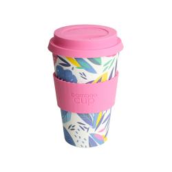Bamboo - Cup  à base de fibre de bamboo au motif feuille  400ml