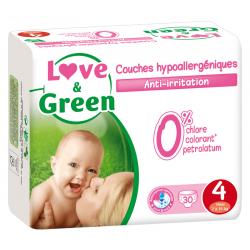 Love&Green - Couches hypoallergéniques T4 (de 7 à 14 kg)