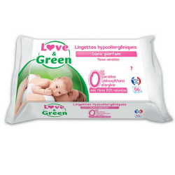 Love&Green - Lingettes sans parfum