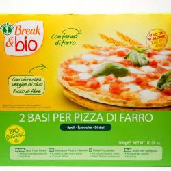 Pizzabodem 100% spelt 300g,Brood, toast en pizza