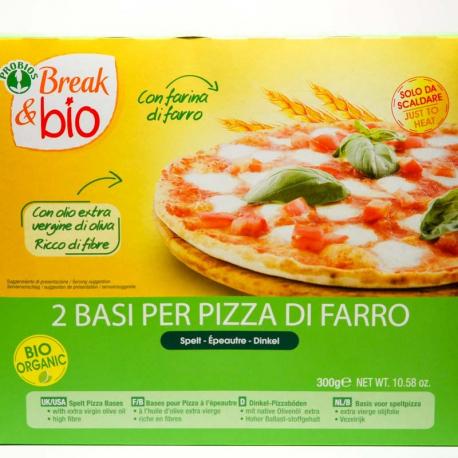 Fond de pizza 100% épeautre 300g, BREAK & BIO, Pains, toasts et