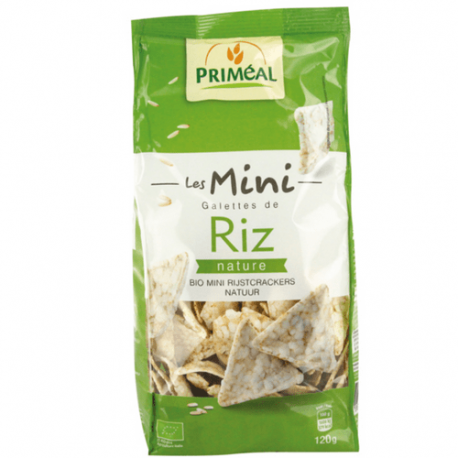 Priméal - Mini galettes de riz nature 120g Bio