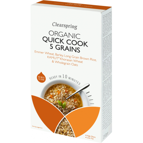 Quick Cook 5 grains 250g, CLEARSPRING, Graines