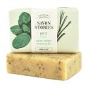Savon Stories - Savon saponifié à froid aux herbes de basilic Bio 110g