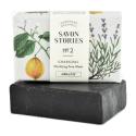 Savon Stories - Savon saponifié à froid au charbon Bio 110g