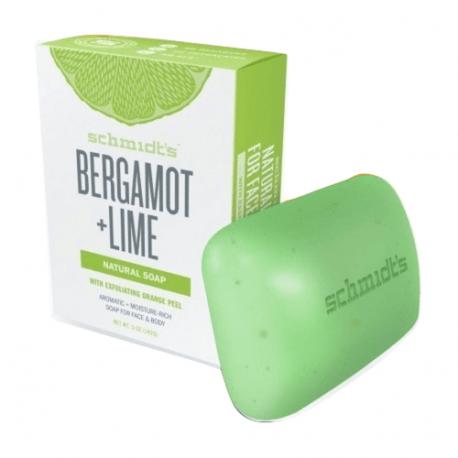 Savon naturel à la bergamote et citron vert 142g - Schmidt's