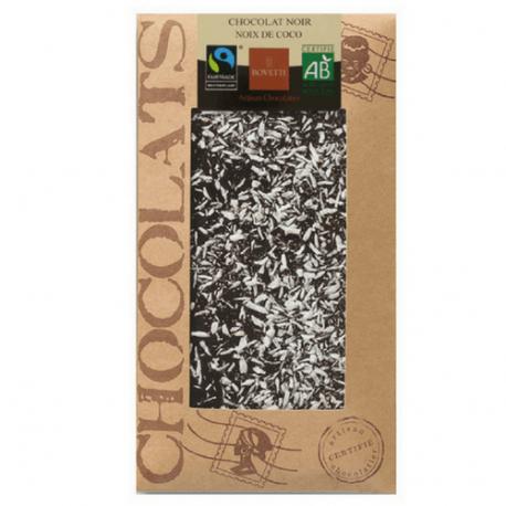 Dark ORGANIC chocolate Lavender flower 100g - BOVETTI Chocolatier