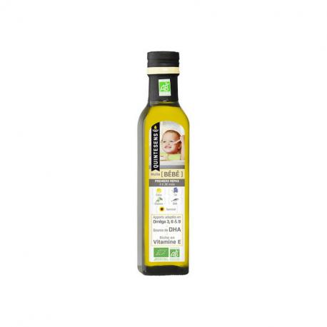 Quintesens - Mélange 6 huiles pour bébés 4-36 mois 250ml (bio)