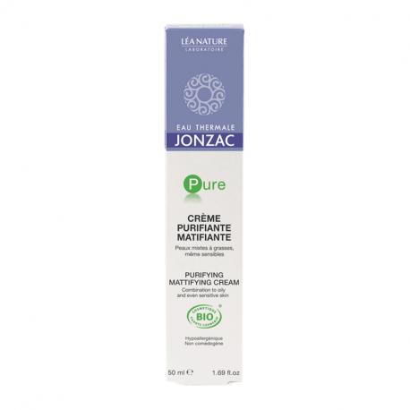 Jonzac Pure Mattifying Purifying Cream 50ml - Organic