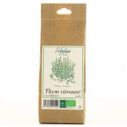 Feuilles de Thym citronné - Bio - L'herbier de France - 50g