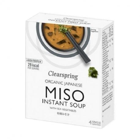 Soupe miso instantanée aux algues bio 4x10g, CLEARSPRING,
