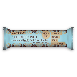 Rhythm 108 - Chocoladereep kokosnoot en havermout 35g