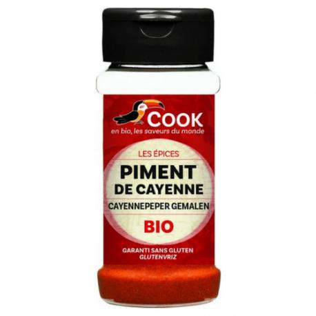 Poudre de Piments de Cayenne 40g, COOK, Epices