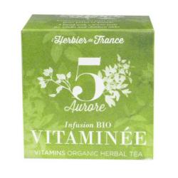 Infusion vitaminée 1x15 sachets, HERBIER DE FRANCE, Thés et
