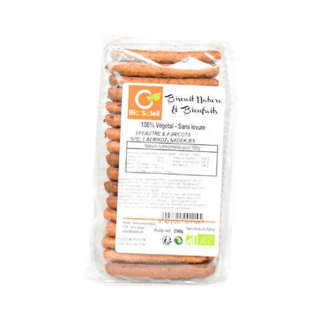 Biscuits d'épeautre aux abricots 250g, BIOSOLEIL, Biscuits et