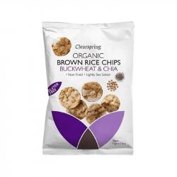 Clearspring - Chips de riz sarrasin et chia