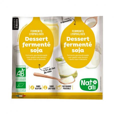 Hygiena - Dessert fermenté au soja bio 2X6g