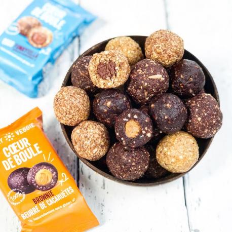 Funky Veggie - Coeur de boule brownie beurre de cacahuètes 44g
