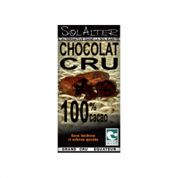 Solalter - CHOCOLAT 100% CACAO CRU 90g