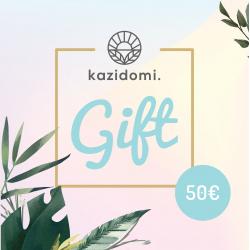 Cadeaubon van Kazidomi € 50,Cadeaukarten