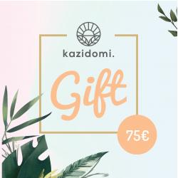 Cadeaubon van Kazidomi € 75,Cadeaukarten