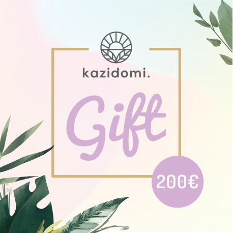 Cadeaubon van Kazidomi 200€