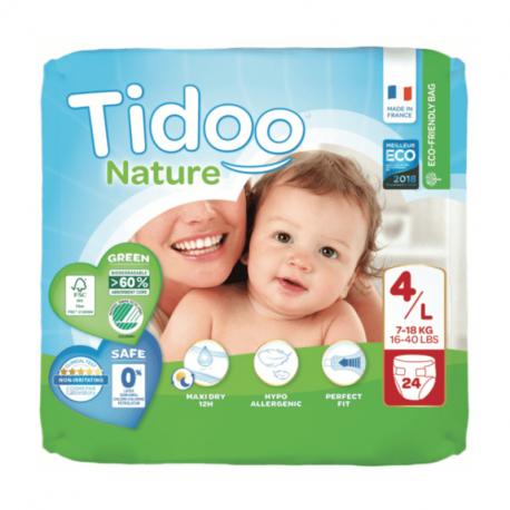 Tidoo Nature - Couches pour bébé 4/L (7-18kg) - 24p