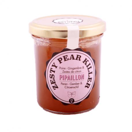 Pipaillon - Zesty Pear Killer - Perenconfituur, Gember & Citroenschil 212ml