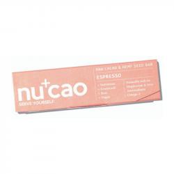 NUCAO - Organic Bar Hemp Seeds & Raw Cacao - Espresso 40g
