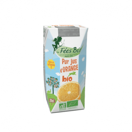 Les Fées Bio - Pur Jus d'Orange Bio - 20cl
