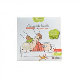 Les Tendances d'Emma - Carrés bébé lavables Coton BIO Biface 5pièces