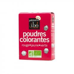 Ibo - Organic Food Coloring Powders Red / Yellow / Green 3x5gr