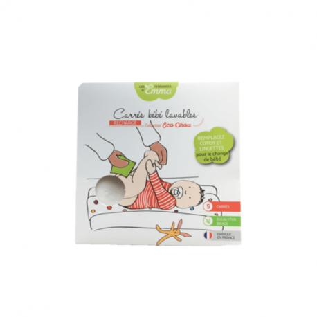Les Tendances d'Emma - Wasbare billendoekjes voor baby's Biface Eucalyptus 5st