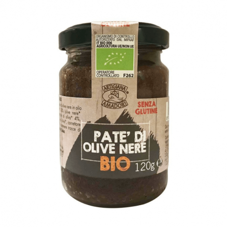Artigiana Amadori-Black Olives Paste 120g