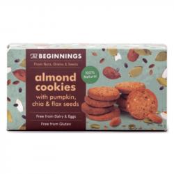 The Beginnings - Amandel Cookies met Pompoenpitten, Chia & Lijnzaad 80g