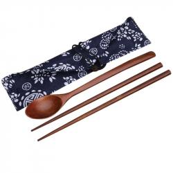 Set met Houten Chopsticks en Lepel