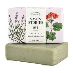 French Green Clay Bar Soap - Savon Stories