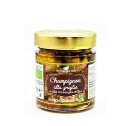 Bio Organica Italia - Gegrilde champignons met biologische olie