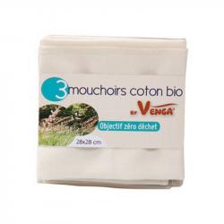 Anaé - Lot de 3 Mouchoirs coton bio