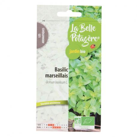 La Belle Potagère - Graines de Basilic marseillais Bio 0,5g