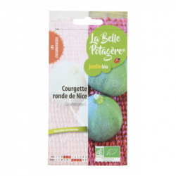 La Belle Potagère - Graines de Courgette ronde de Nice Bio 1,5g