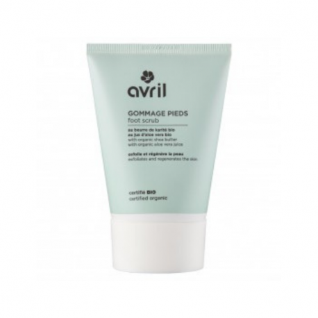 Avril - Foot Scrub with Shea Butter and Aloe Vera Juice Organic 100ml
