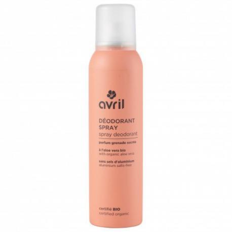 Avril - Deodorant Spray Parfum Grenade Sucrée Bio 50ml