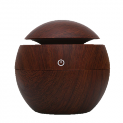 Diffuseur d'huiles essentielles impression bois foncé 130ml