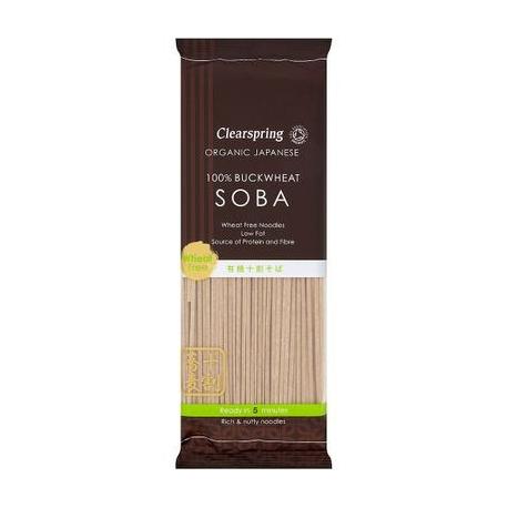Nouilles soba (100% sarrasin) (bio) 200g, CLEARSPRING, Pâtes
